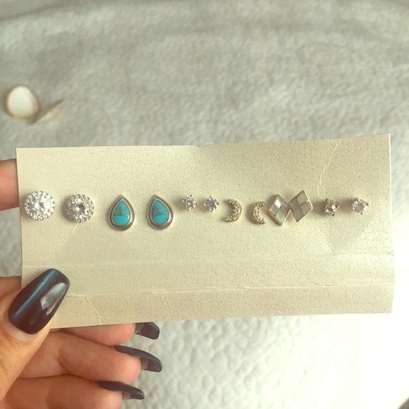 Free People Jewelry - Boho stud earring bundle
